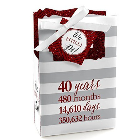 We Still Do - 40th Wedding Anniversary Party Favor Boxes - Set of 12 - 40th Anniversary Party Ideas