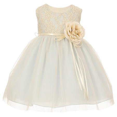 Baby Girls Blue Two Tone Lace Satin Sash Corsage Tulle Flower Girl Dress 24M