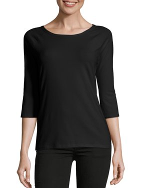Women's Stretch Cotton Raglan 3/4-Sleeve Tee