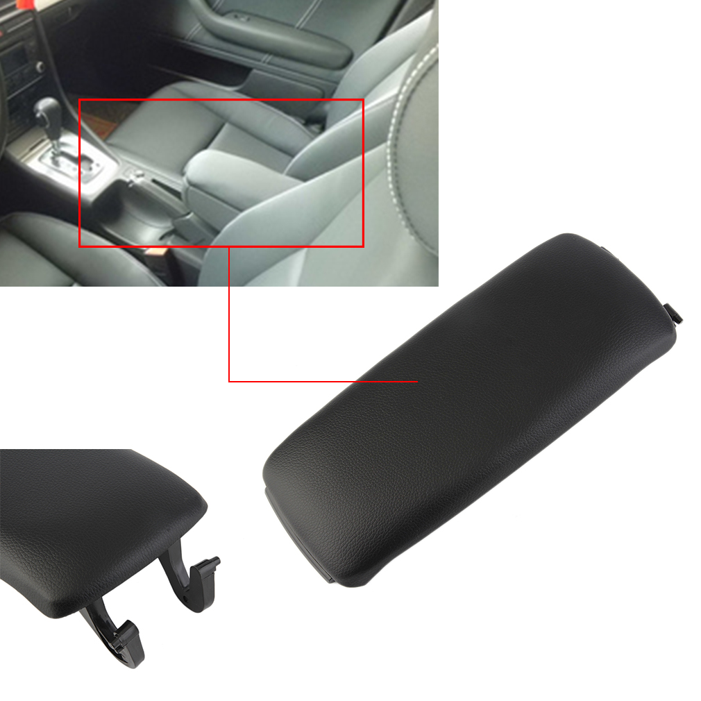 Cars Armrest Center Console Lid Cover Interior Storage For Audi 00-08 A4 A6
