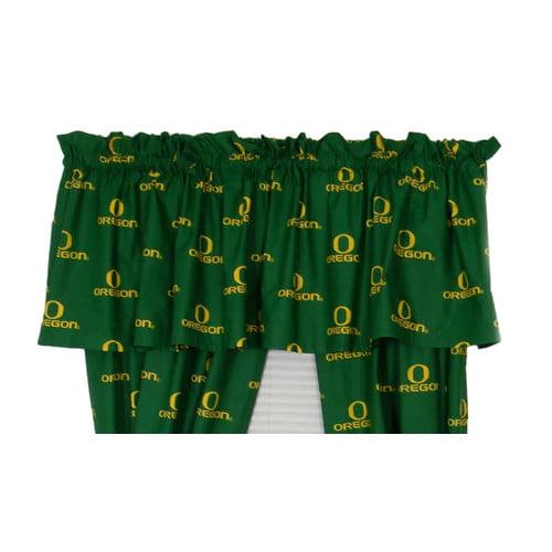 College Covers NCAA Oregon Printed Rod Pocket Curtain Valance