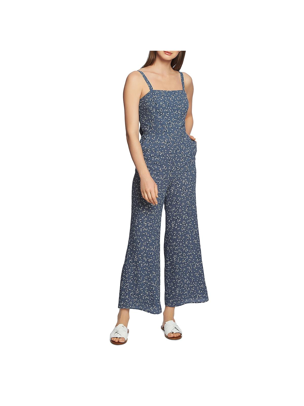 NEW 1.STATE Women/'s Cropped Halter Jumpsuit Tropic Berry MSRP $129.00