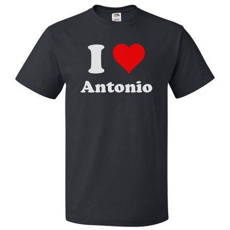 I Love Antonio T shirt I Heart Antonio Tee Gift