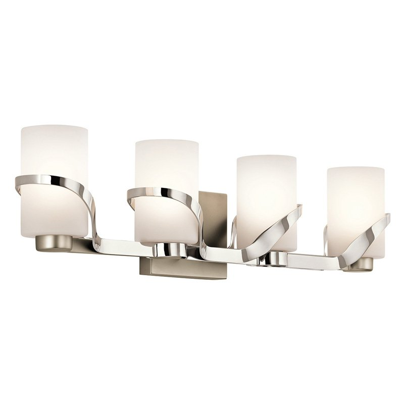Bathroom Vanity Lights Kichler kichler stelata 45630pn 4 light bathroom vanity light - walmart