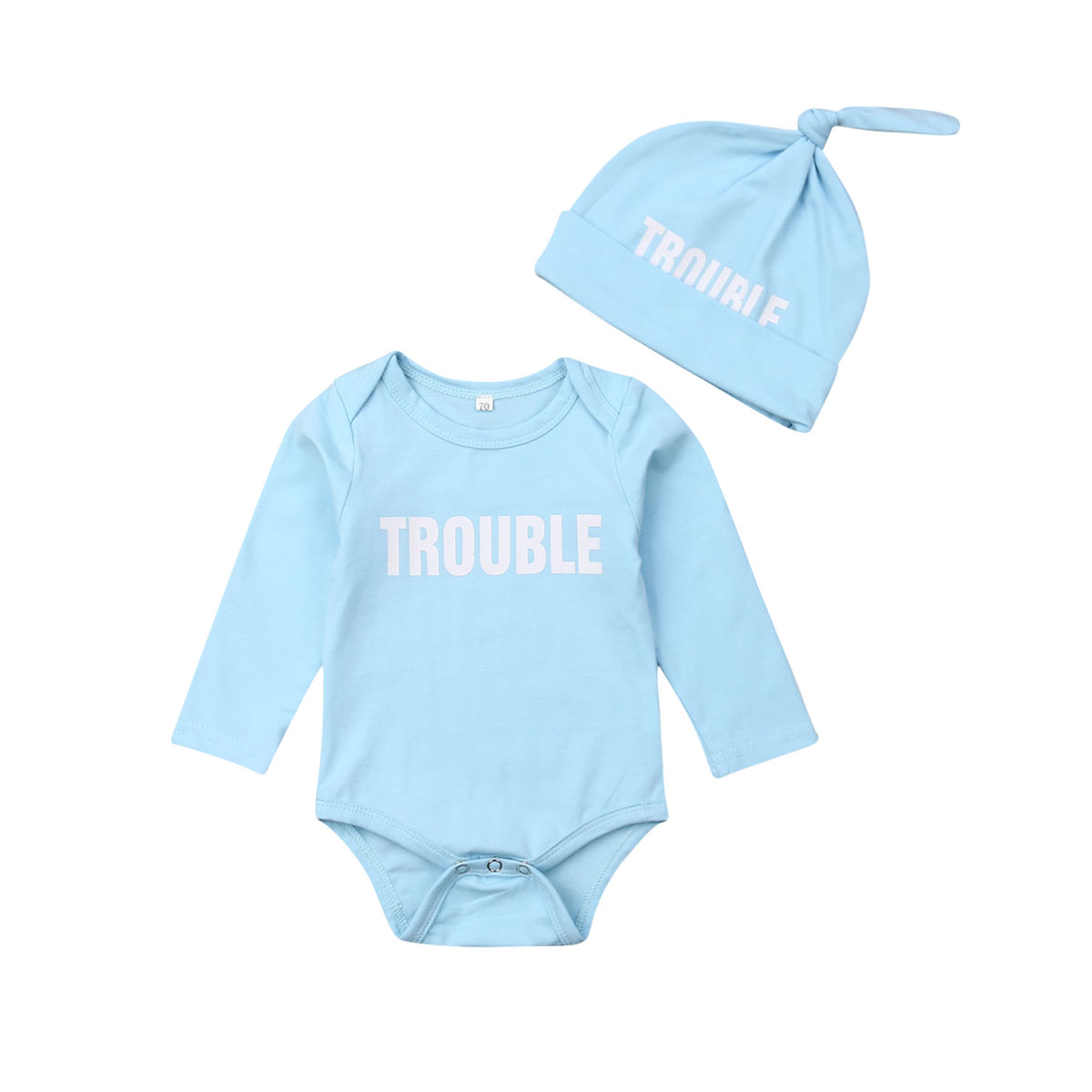 Newborn Baby Girl Boy Short Sleeve Letter Top Romper Jumpsuit Clothes Outfit Set