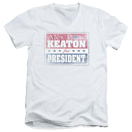 - Family Ties Alex For President Mens V-Neck Shirt