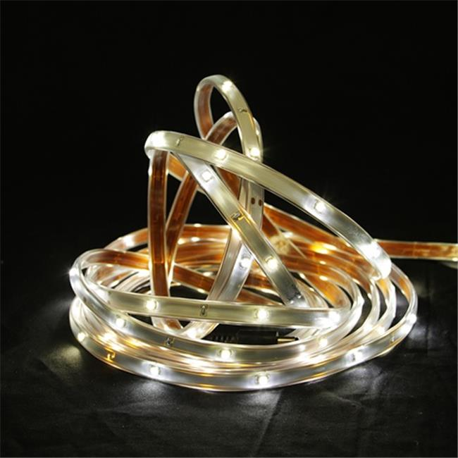 NorthLight 18 ft.  Pure White LED Indoor - Outdoor Christmas Linear Tape Lighting - White Finish