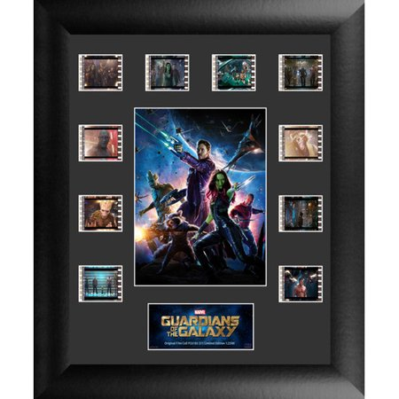Trend Setters Marvel Guardians of the Galaxy Ten Clip FilmCell Framed Vintage Advertisement