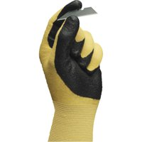 AnsellPro HyFlex Ultra Lightweight Assembly Gloves, Black/Yellow, Size 9, 12 Pairs