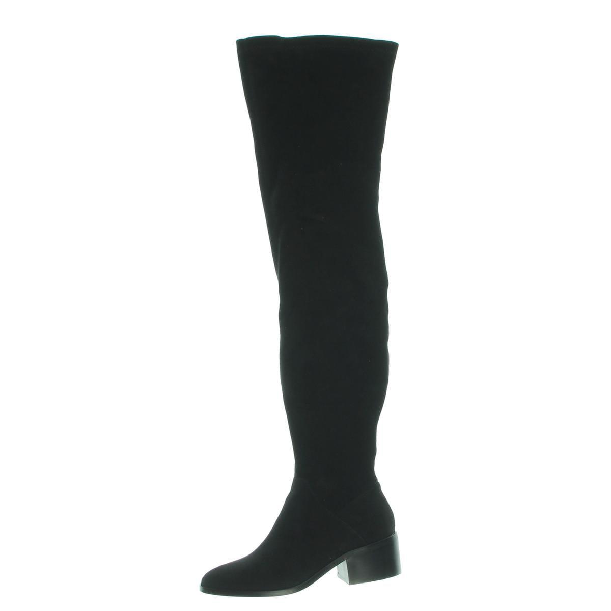 Steve Madden Womens Gabriana Faux Suede Thigh-High Sock Boot