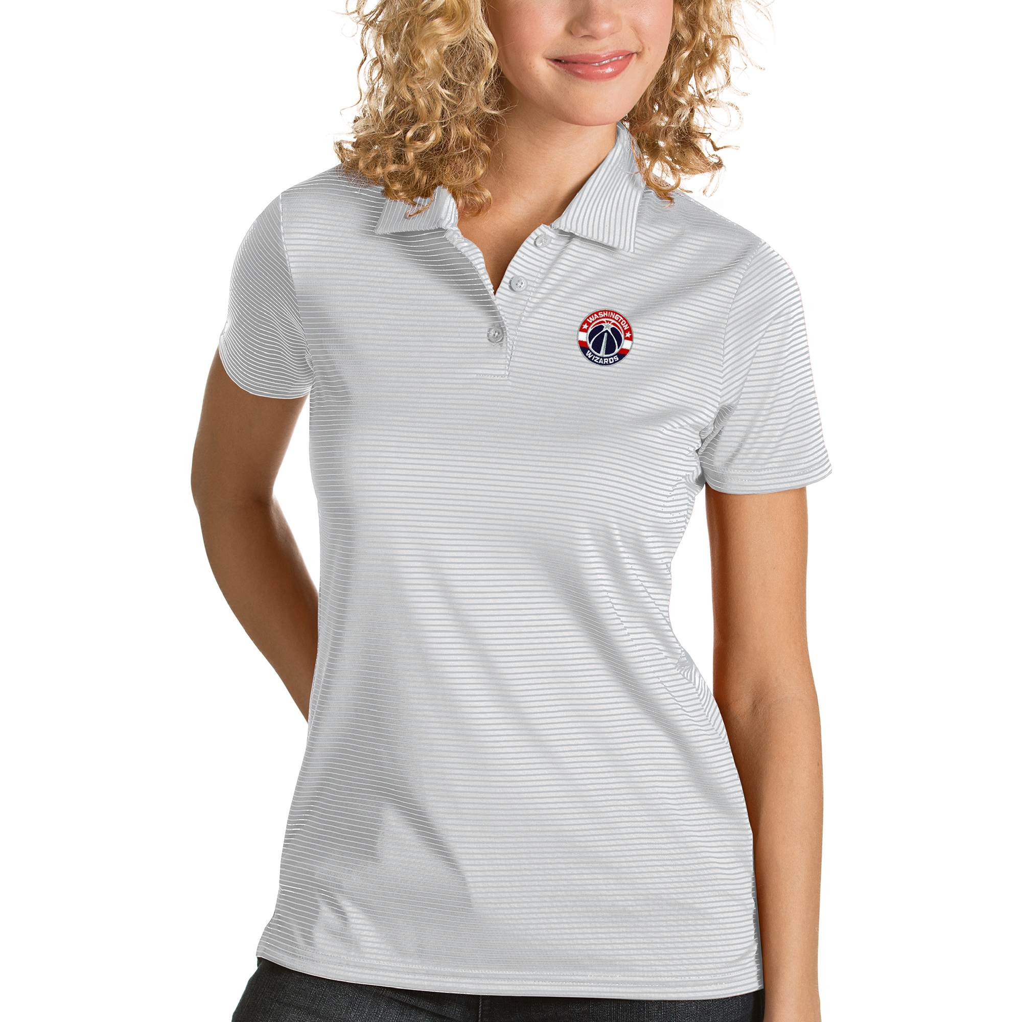 Washington Wizards Antigua Women's Quest Polo - White