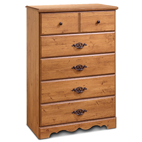 South Shore Prairie 5-Drawer Dresser, Pine