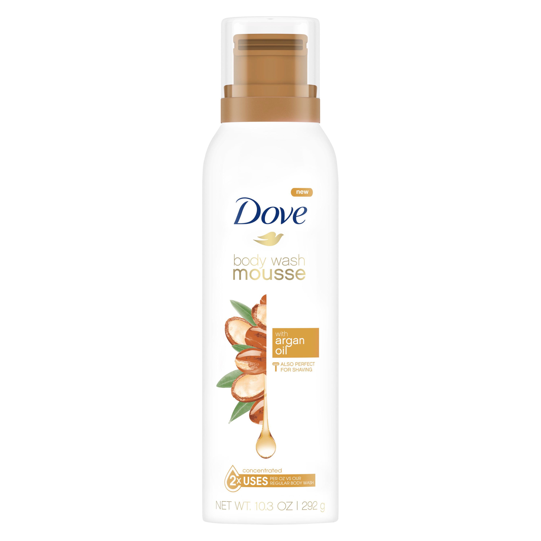 Dove Body Wash Mousse with Argan Oil 10.3 oz