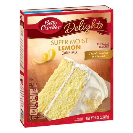 Banana Cake Mix - (2 pack) Betty Crocker Super Moist Lemon Cake Mix Baking Mix, 15.25 oz Box