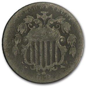 1874 Shield Nickel VG