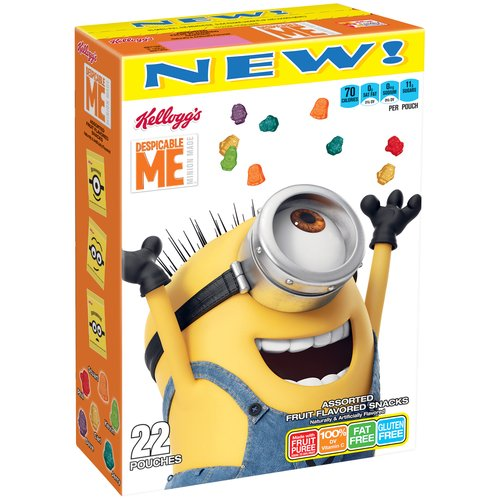 (2 Pack) Kellogg's Despicable Me 3 Fruit Snacks 22ct