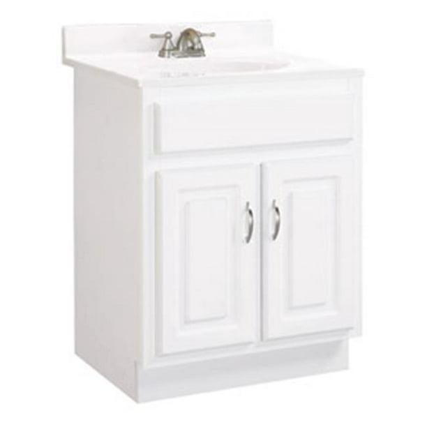 Concord White Gloss Vanity Cabinet With 2 Doors 44 24 X 21 X 30 In Walmart Com Walmart Com
