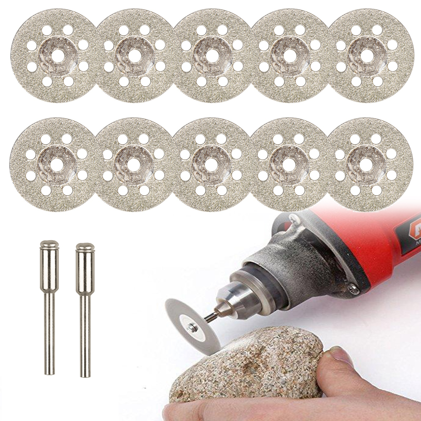 10PCS Diamond Cutting Wheel Saw Blades Cut Off Discs For Rotary Set Tool X4J3