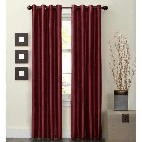 Maytex Jardin Faux Silk Thermal-Lined Energy Window Panel
