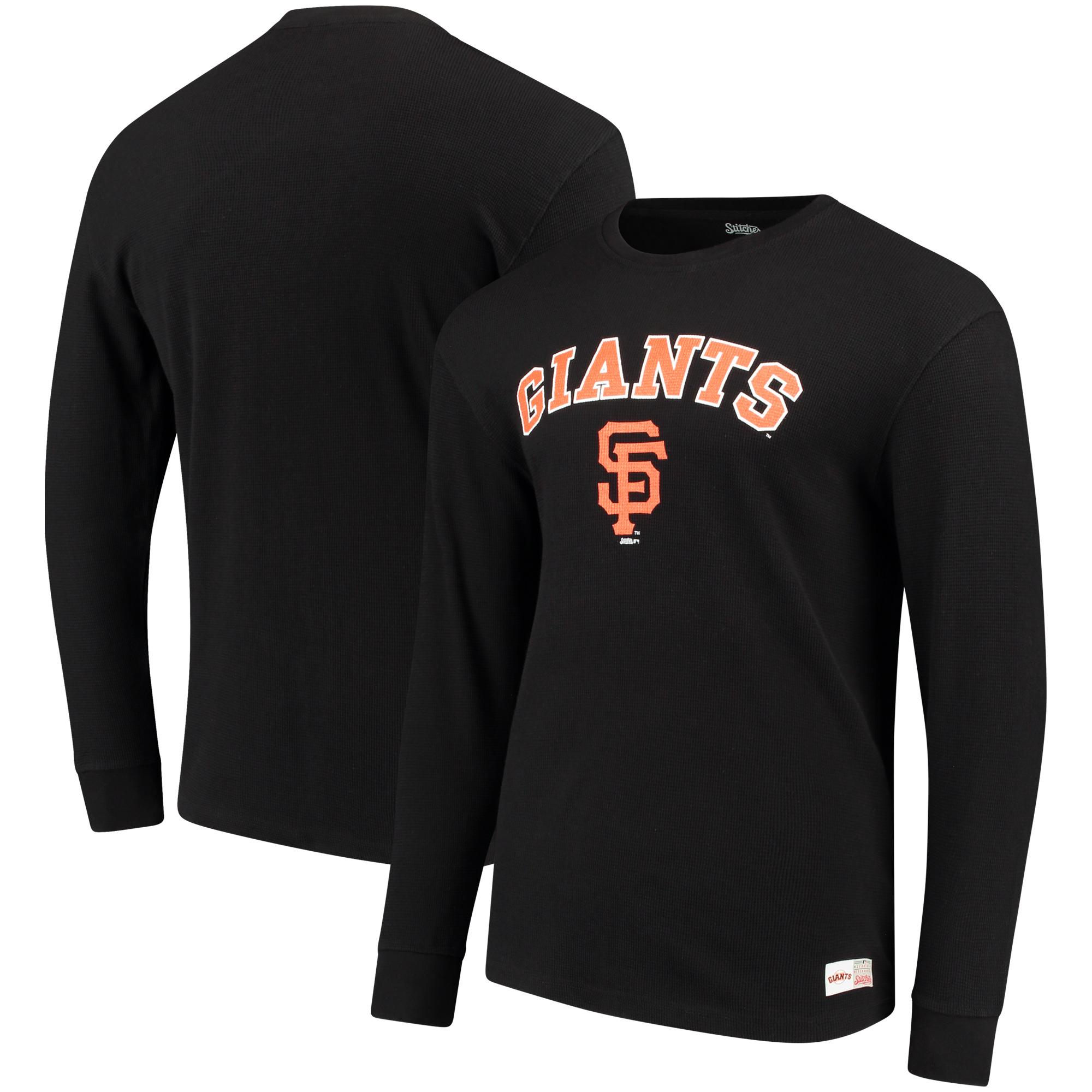 San Francisco Giants Stitches Long Sleeve Thermal T-Shirt - Black
