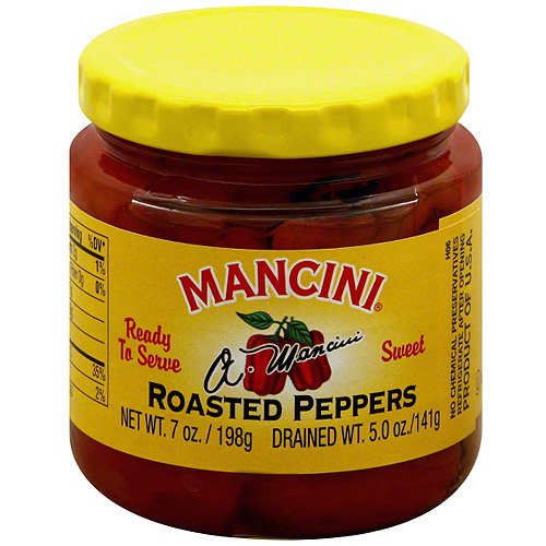Mancini Roasted Sweet Peppers, 7 oz (Pack of 12)