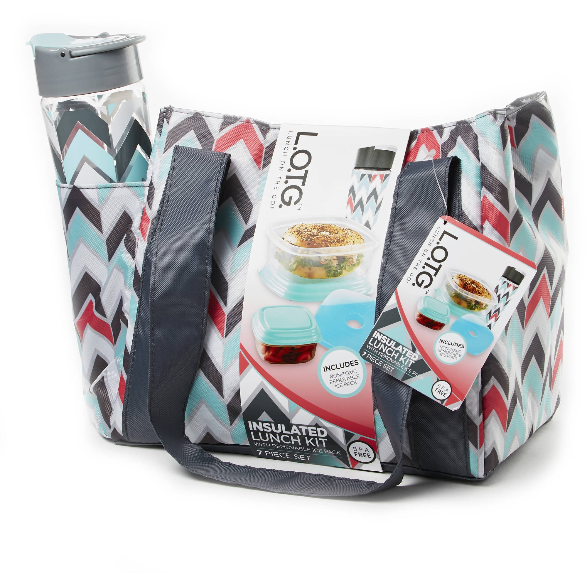 L.O.T.G. Insulated Lunch Kit with Removable Ice Pack