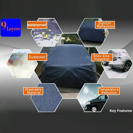Durable Outdoor Stormproof Waterproof BreathableBlack Car Cover For Subaru - image 2 of 7