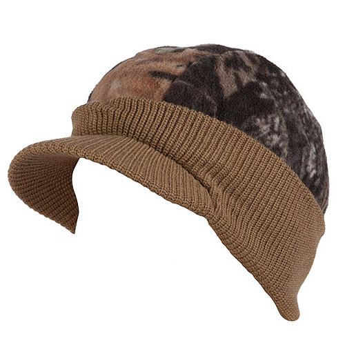 QuietWear Reversible Knit and Fleece Visor Cap