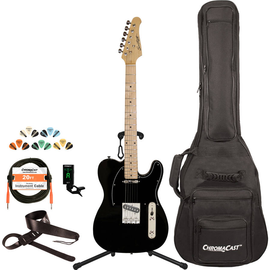 Sawtooth Classic ET 50 Ash Body Electric Guitar Kit with ChromaCast Gig Bag and Accessories