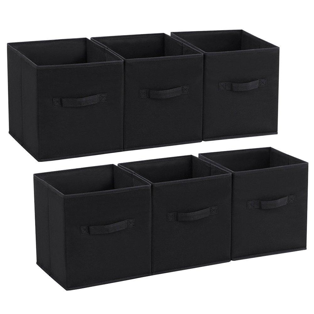 SONGMICS Set of 6 Storage Cubes Foldable Fabric Drawer ...