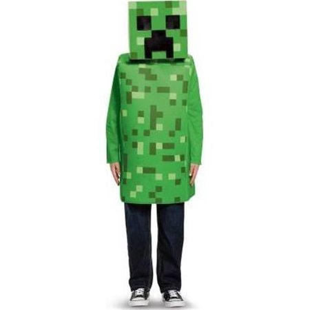 Minecraft Creepr Classic Costume for Children, Green - Size 10-12 - Minecraft Costumes For Sale