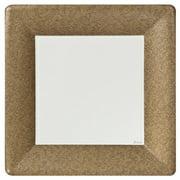 "Lillian Dinnerware Paper Plates, Square, 10"", Gold Texture, 24 Ct"