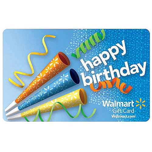 Birthday Noise Walmart Gift Card