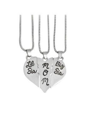 694a5ff371 Product Image 3 Piece-Mom Big and Little Sister Heart-Shaped Anti-Tarnish  Silvertone Necklace