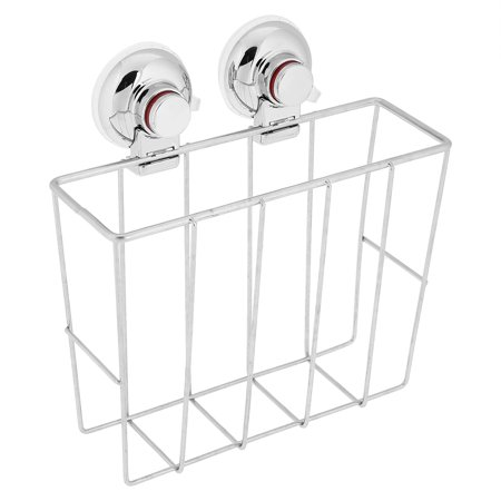Wall Mounted Bathroom Magazine Rack - Yosoo Stainless Steel Sucker Bathroom Magazine Newspaper Holder Basket Wall Mounted Storage Rack, Magazine Rack, Bathroom Magazine Rack