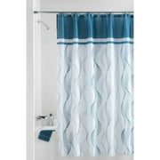Mainstays 13-Piece Shower Curtain, Cosmo Teal