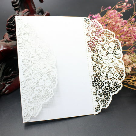 10PC Wedding Invitation Card Kit with Envelopes Seals Personalized Printing - Printing Invitations