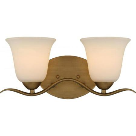 Nuvo Lighting 60 5812 Dillard 2 Light 16  Wide Bathroom Vanity Light With Froste