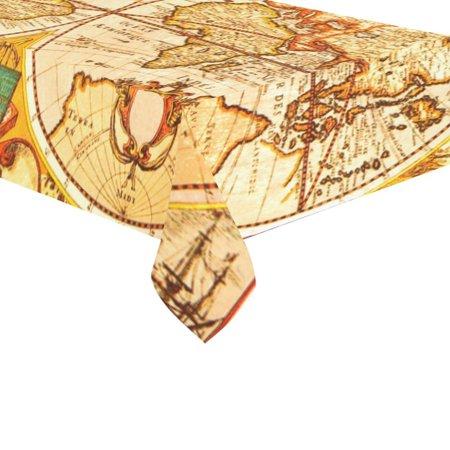 Mypop antique world map globe art cotton linen tablecloth sets mypop antique world map globe art cotton linen tablecloth sets 60x120 inches watercolor retro desk gumiabroncs Image collections