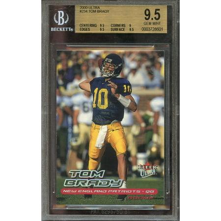 2000 Ultra  234 Tom Brady New England Patriots Rookie Bgs 9 5  9 5 9 9 5 9 5