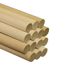 "5 Pcs 1-3/4"" x 36"" Maple Dowels A quality dowel begins with quality lumber. Our dowels are made from select Birch and Maple."