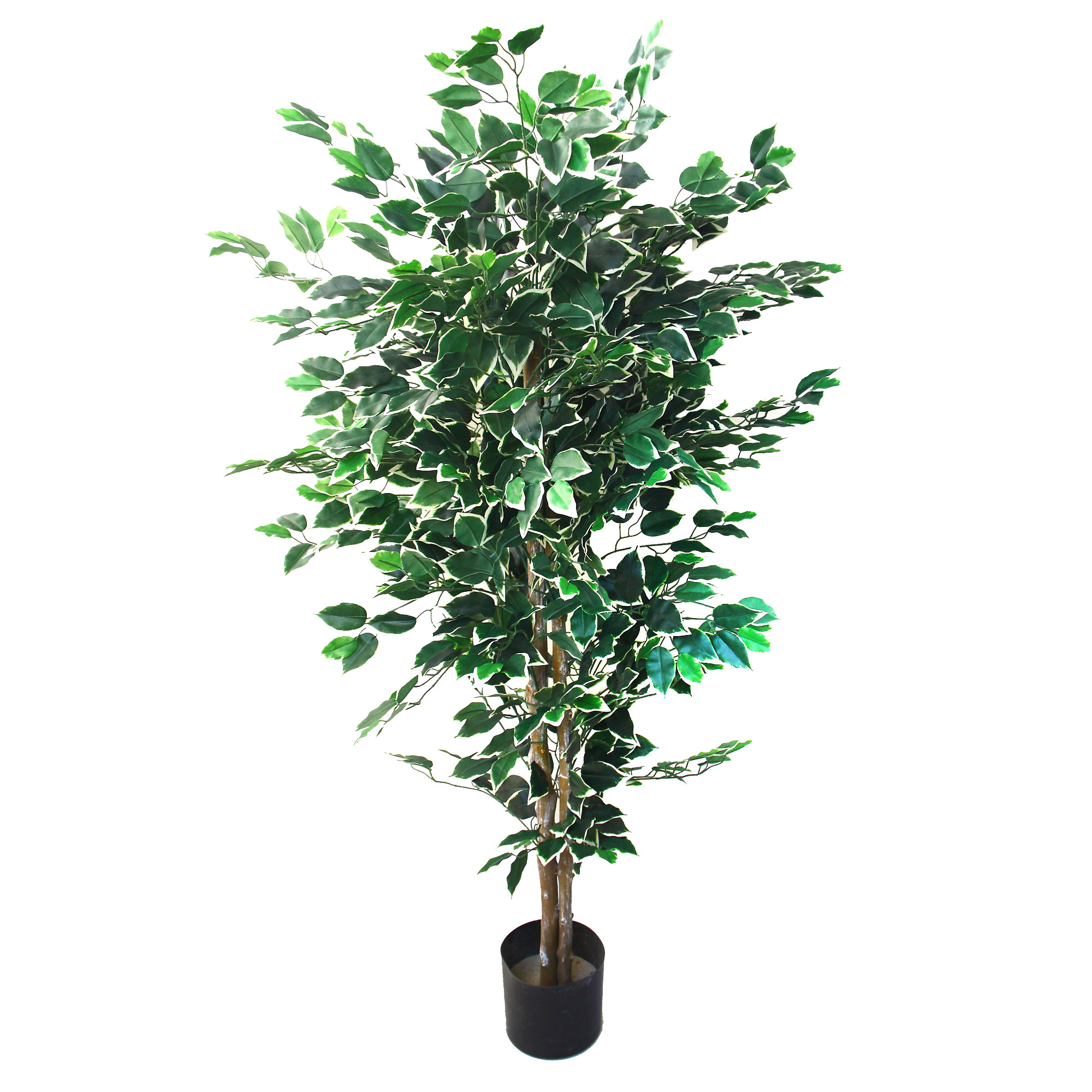5' Ficus Artificial Tree, Faux Tree by Pure Garden
