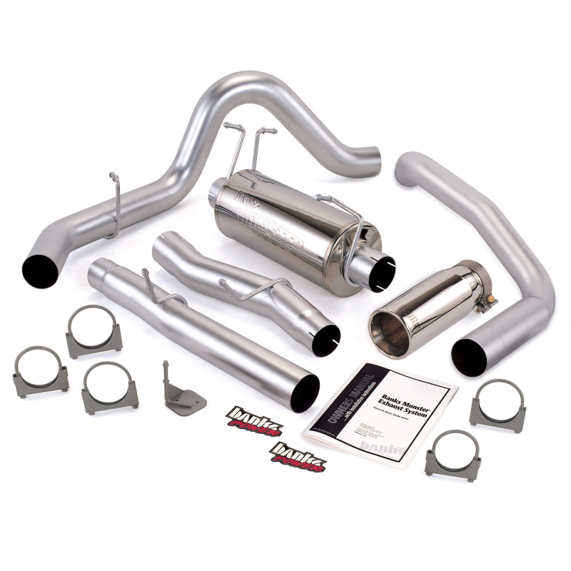 Banks Power 03-07 Ford 6.0L CCLB Monster Exhaust System - SS Single Exhaust w/ Chrome Tip