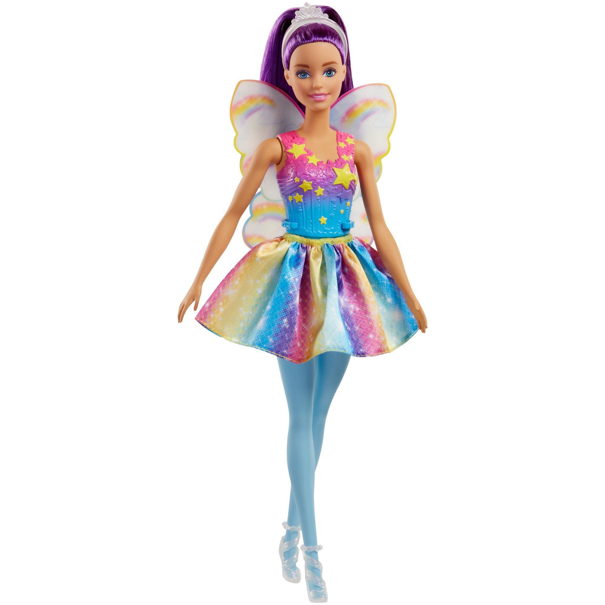 Barbie Dreamtopia Fairy Doll with Purple Hair & Rainbow Wings by Barbie