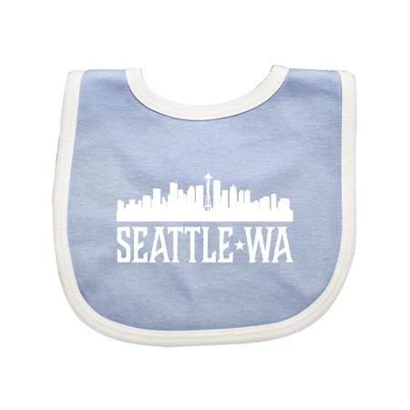 Seattle Washington Skyline WA Cities Baby Bib