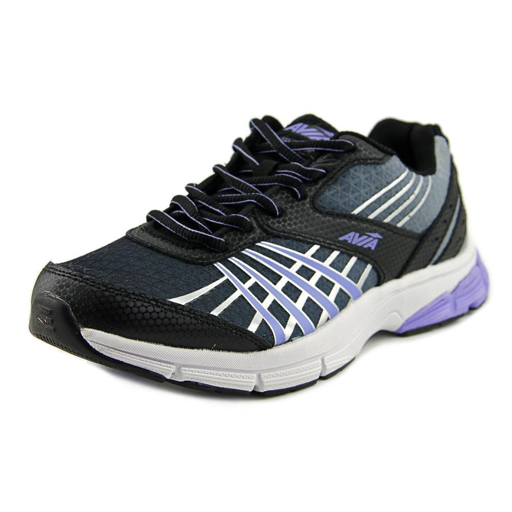Avia Vault Women Round Toe Synthetic Black Running Shoe by Avia