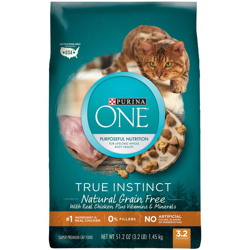 grain free cat food walmart instinct purina one true instinct natural grainfree with real chicken dry cat food 32