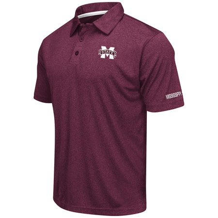 Mens Mississippi State Bulldogs Short Sleeve Polo Shirt - - Mississippi State Bulldog