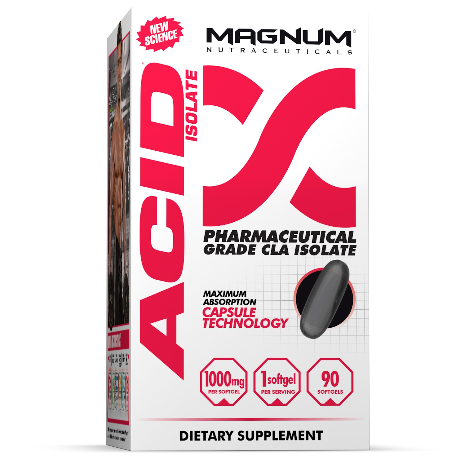 Magnum Nutraceuticals Acid Fat Burner Pharmaceutical Grade CLA Isolate - 90 Softgels | Fat Mobilizer | Metabolic