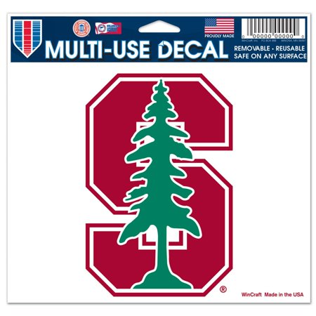 Stanford Cardinal Official NCAA 4 inch x 6 inch Car Window Cling Decal by